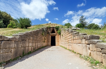 Impressive ancient tomb of Agamemnon also known as Treasury of Atreus at Mycenae