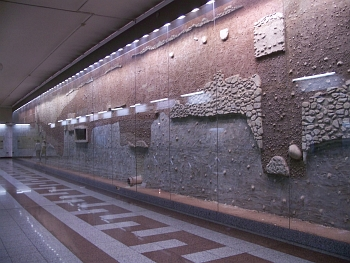 Ancient ruins at Syntagma Metro Station