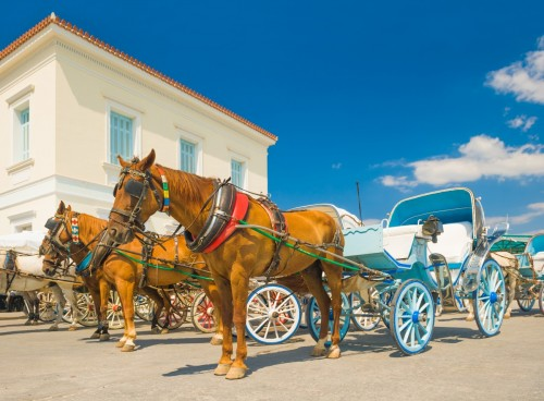 Horse ride in Spetses island, Greece
