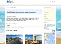 Snapshot of Fantasy Travel new website concerning search mechanisms