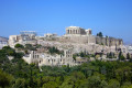 View of Acropolis Hill and the Parthenon temple, Athens