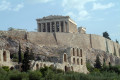Parthenon and Acropolis Hill on a sunny day, Athens