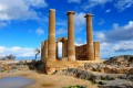 Ancient temple on the beach, Rhodes island