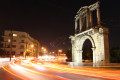 Arch of Hadrian at night