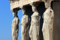 Caryatids at the Erechtheion temple on Acropolis Hill, Athens