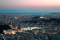 Panoramic view of Athens by night