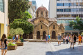 Panagia Kapnikarea Byzantine church in Ermou street, Athens city center