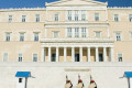 Evzones in front of the Greek Parliament in Syntagma square, Athens