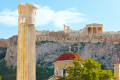View of Acropolis Hill and Parthenon on a sunny day, Athens