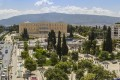 Panoramic view of Athens city center and Syntagma square on a sunny day