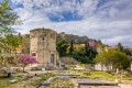 Tower of the winds and roman forum ruins, Athens