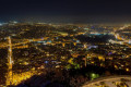 Panoramic view of Athens city by night