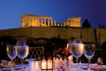 Romantic dinner at Divani Palace Hotel backdropped by Parthenon, Athens