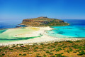Balos Lagoon beach in Chania city, Crete island