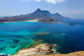 Balos beach blue lagoon in Chania, Crete island