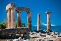 The ancient Temple of Apollo in Corinth, Greek mainland tour