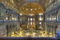 Interior detail of Hagia Sophia landmark in Istanbul, Turkey