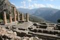 The ruins of the Apollo Temple, Delphi