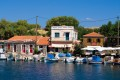 Fishing harbor in Molyvos town, Milos island
