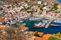 Panoramic view of the port, Hydra island