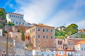 Colorful traditional houses, Hydra island