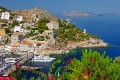 Beautiful port of traditional Hydra island, Greece
