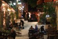 Famous Plaka district at night