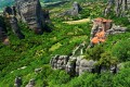 Meteora monasteries perched on the rocks