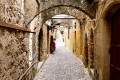 Inside the old medieval town, Rhodes island