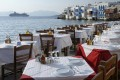 "Restaurant by the sea next to the famous ""Little Venice"", Mykonos island"