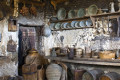 Old traditional kitchen in a monastery of Meteora, Thessaly