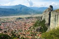 Panoramic view of Kalambaka city from Meteora, Thessaly