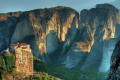 Meteora monasteries and rock formations