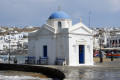 Picturesque chapel, Mykonos island