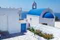 Traditional white and blue Orthodox church, Mykonos island
