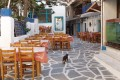 Traditional taverns in the alleys of Naxos island