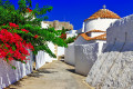 Picturesque alley on Patmos island