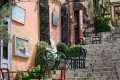 Brautiful street and strairs at Plaka area, Athens