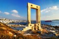 Gate of the temple of Apollo also known as Portara, the most famous landmark on Naxos island