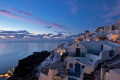 Sunset in Oia village, Santorini island