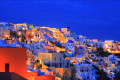 Santorini island by night