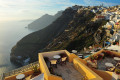 Exotic panoramic view to the caldera, Santorini island