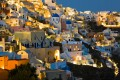 Oia town by night, Santorini island