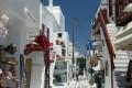Traditional white washed alley, Mykonos island