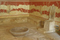 The Throne Room of the Knossos palace in Heraklion city, Crete island