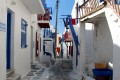 Picturesque alley, Mykonos island