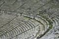 Stone seats in the ancient Greek theater of Epidaurus