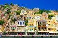 Port and houses, Symi island