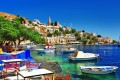 Colorful port, Symi island