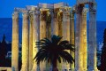 Temple of Zeus by night, Athens
